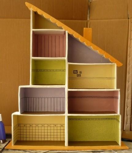 35 ideas para hacer una casita de mu ecas entre - Como hacer un armario de carton ...